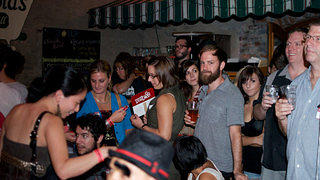 Crowd at Arnold's Bar and Grille
