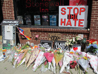 Orlando shooting memorial outside Stonewall Inn