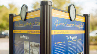 African-American Heritage Trail in St. Petersburg Sign