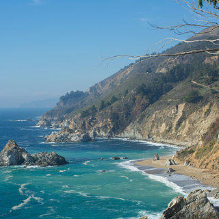California Coast as seen from Julia Pfeiffer Burns State Park