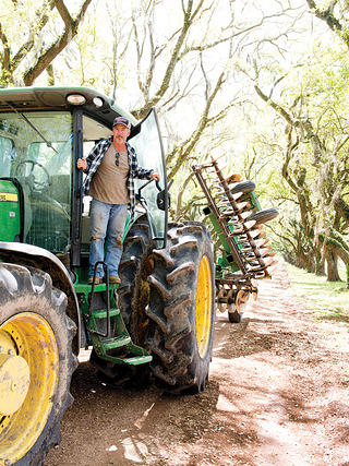 Danny Hymel on his tractor
