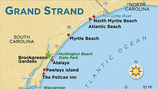 Map of Grand Strand