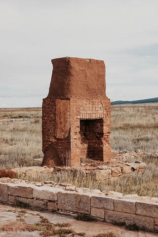 Outside chimney in Fort Union