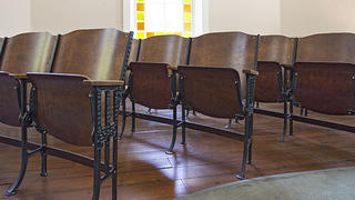 McBee Methodist Church seats. Credit: Bill Fitzpatrick