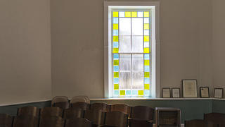 McBee Methodist Church stained glass window. Credit: Bill Fitzpatrick