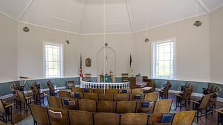 Interior of McBee Methodist Church. Credit: Bill Fitzpatrick