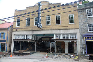 Caplan's Department Store on Main Street was completely gutted by the floods.