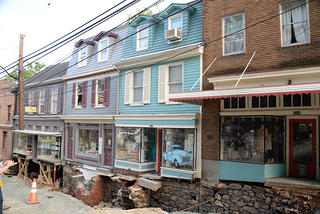Dozens of properties on Main Street in Ellicott City suffered severe foundational damage in the flood.