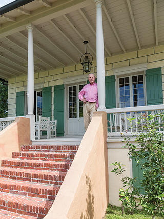 Frederick Starr on his porch
