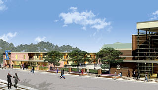 Architect renderings show future Freedom Center and A. G. Gaston Motel.