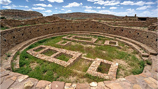 A great kiva in the Chaco Culture National Historic Park