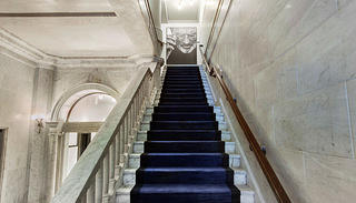 Marble stairs with carpet