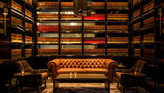 Bar lined with law encyclopedias