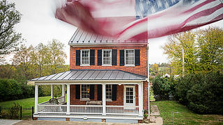 Front of the Federal-style rehabbed house in Waterford, Virginia. Credit: Scott Suchman