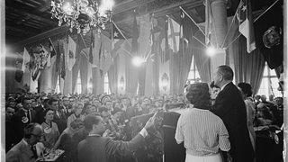 President Johnson and Wife at Biltmore Hotel