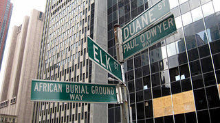 New York City's African Burial Ground Sign
