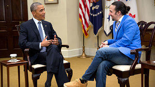 President Obama and Lin-Manuel Miranda