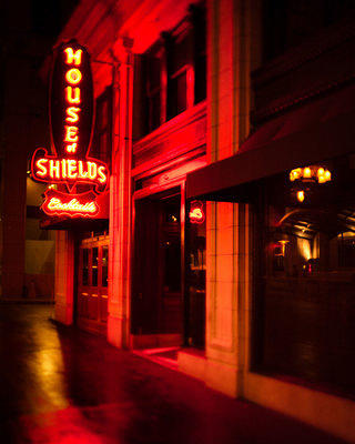 Historic Bars House of Shields San Francisco Neon Sign