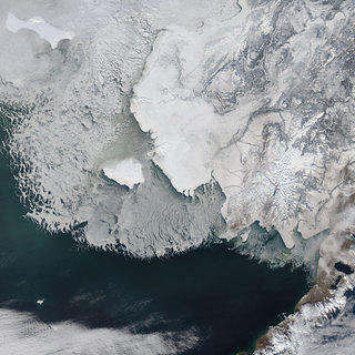 Alaska's Eroding Edges NASA Space View of Bering Straits Sea Ice