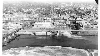 Seaholm Power Plant Historic Aerial Shot of the Plant