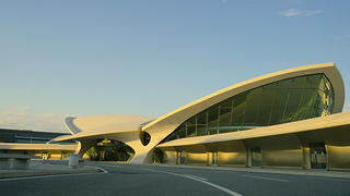 TWA Terminal at John F. Kennedy International Airport, New York, designed by Eero Saarinen