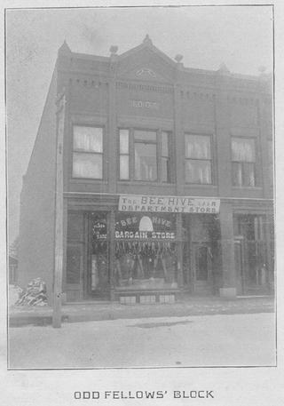 A historic view of the Oddfellows-Erickson building, now Worth Brewing Company.