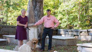 Sacred Places Ebenezer A.R.P. Church Parishioners Standing in the Cemetery