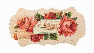 Object Lesson A Little Romance Villa Finale Calling Card with Forget Me Not Inscription