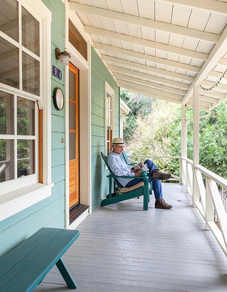 Porch at Andy Carpentier's House, photo by Kat Alves