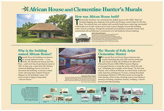 African House at Melrose Plantation - Interpretative Signs