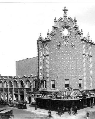 1927 Photo of The Carpenter Theater in Richmond VA as the Loew's Movie Theater
