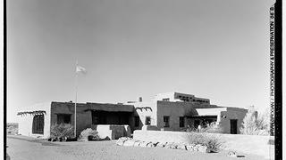 1936 photo, Painted Desert Inn, Petrified Forest National Park