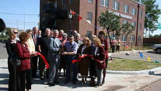 The ribbon-cutting ceremony for the Parkview Apartments in 2008 in Amarillo Texas.