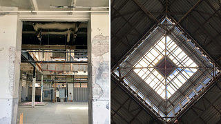 Arts and Industries Floors Removed + Skylight (Credit: Sarah Heffern)
