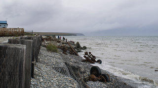 Teller Sea Wall's Rusted Remains