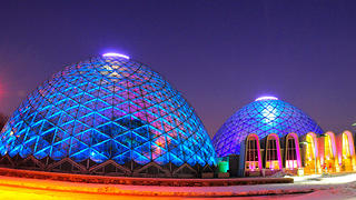 Milwaukee's Mitchell Park Domes at Night