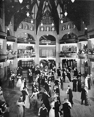Old photo of the ballroom