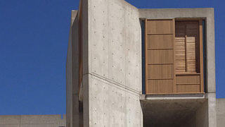 Restored windows at the Salk Institute