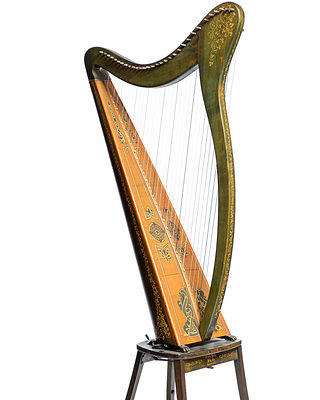 Margaret Wilson's Irish harp on display at the Wilson House
