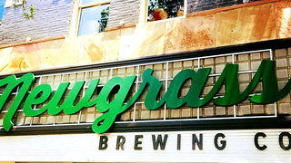 The exterior sign at Newgrass Brewing