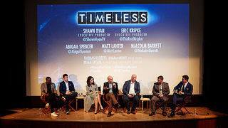 Cast and showrunners of NBC's Timeless