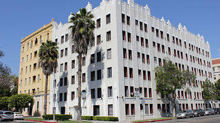 The Val D'Armour Apartment building in LA was built in 1928 and features unique craftsmanship.
