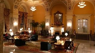 The lobby of the Hermitage Hotel, which was once a space for men only.