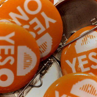 Yes on 8 buttons