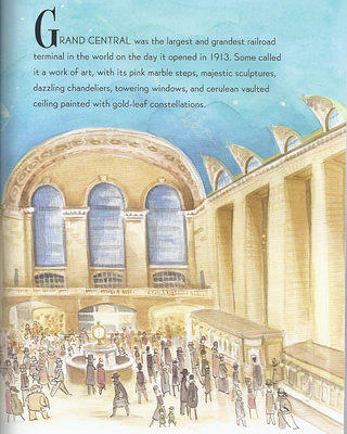 An interior illustration in Natasha Wing's new children's book of Grand Central Terminal. Credit: Natasha Wing/Alexandra Boiger