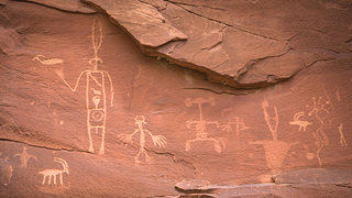 Detail of petroglyphs.