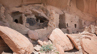 Cliff dwelling inside Bears Ears.