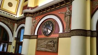 Union Station Hotel Nashville - historic clock on the mezzanine level