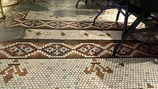 Union Station Hotel Nashville - historic floor tile uncovered during renovation
