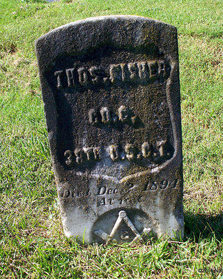Gravestone of Pvt. Thomas Fisher (1835-1894) Civil War Veteran